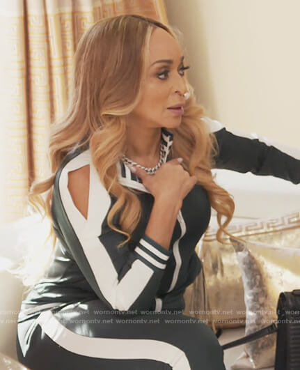 Karen's green tracksuit on The Real Housewives of Potomac