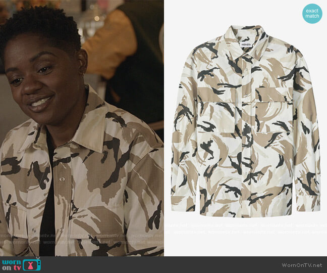 Tropic Camo Overshit by Kenzo worn by Tamia Cooper (Bre Z) on All American