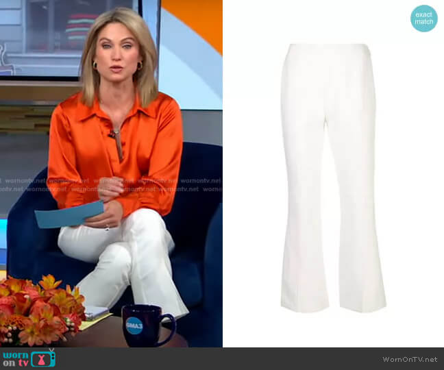 Kym Trousers by Cinq a Sept worn by Amy Robach  on Good Morning America
