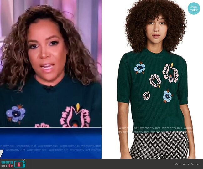 Cropped Knit Top by La Double J worn by Sunny Hostin  on The View