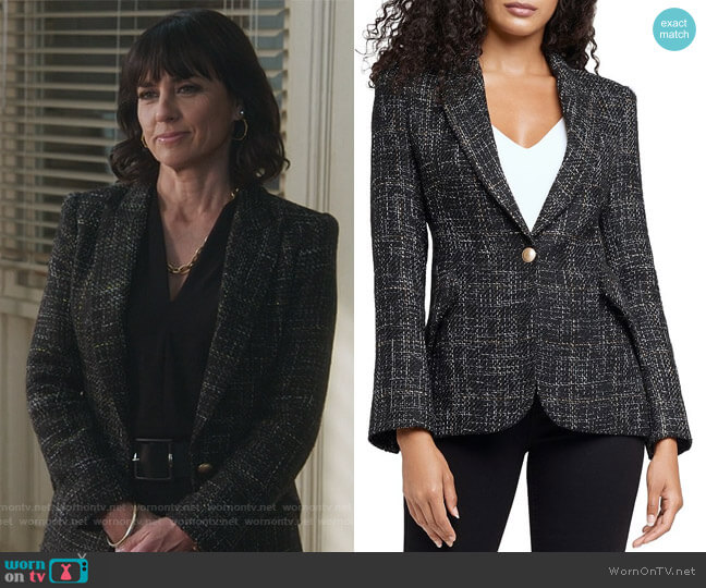 Chamberlain Tweed Blazer by L'Agence worn by Kathleen Gale (Constance Zimmer) on Good Trouble