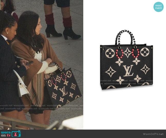 LV Crafty OnTheGo GM Monogram Bag by Louis Vuitton worn by Luna La (Zión Moreno) on Gossip Girl