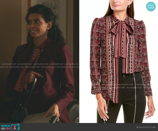 Leslie Blouse by A.L.C. worn by Rana Roy on Gossip Girl