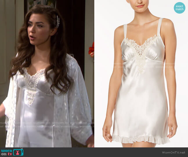 Satin Midnight Short Chemise Nightgown by Linea Donatella worn by Ciara Brady (Victoria Konefal) on Days of our Lives
