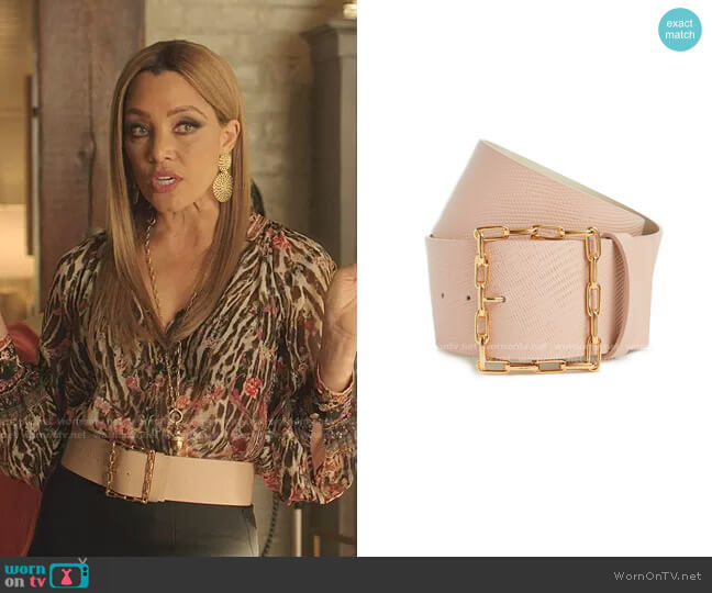 Geo Chain Belt  by Lizzie Fortunato worn by Dominique Deveraux (Michael Michele) on Dynasty