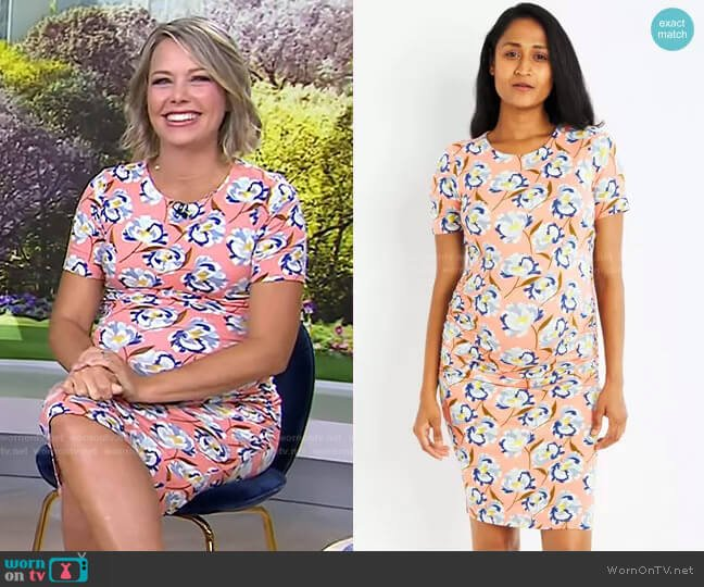 Luxe Side Ruched Maternity Dress by A Pea in the Pod worn by Dylan Dreyer  on Today