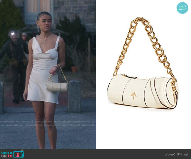 Mini Cylinder Shoulder Bag by MANU Atelier worn by Julien Calloway (Jordan Alexander) on Gossip Girl
