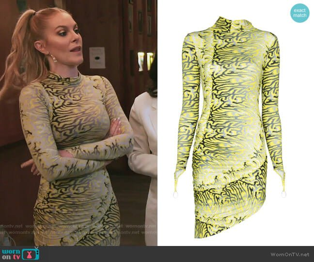 Orbit City bodycon mini dress by Maisie Wilen worn by Leah McSweeney  on The Real Housewives of New York City