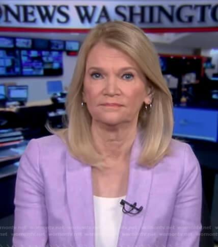 Martha Raddatz's lilac blazer on Good Morning America