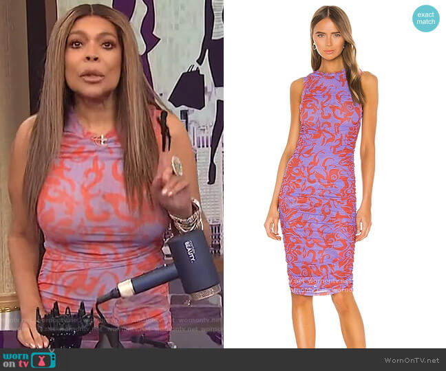 The Suz Dress by Miaou worn by Wendy Williams  on The Wendy Williams Show