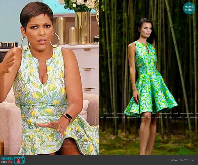 Da Paolino Garden Dress by Michael Fausto worn by Tamron Hall  on Tamron Hall Show
