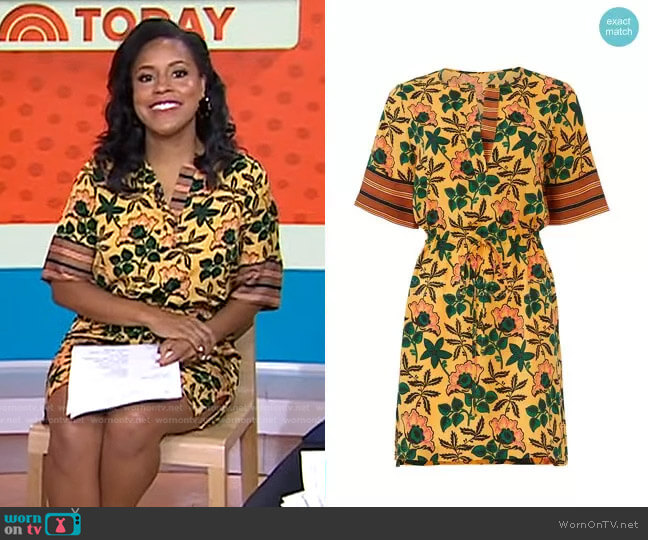 Mixed Floral Print Dress by Scotch & Soda worn by Sheinelle Jones  on Today