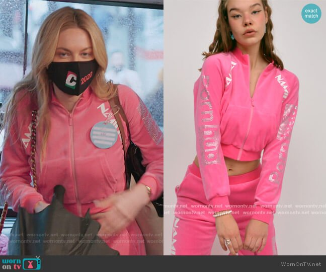 Namilia X Pornhub Crystal Velour Jacket by Namilia worn by Leah McSweeney  on The Real Housewives of New York City