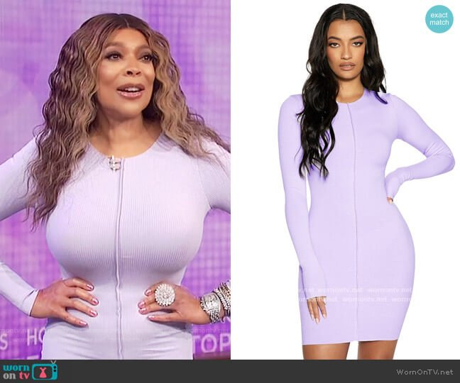 Snatched Vibe Dress by Naked Wardrobe worn by Wendy Williams  on The Wendy Williams Show