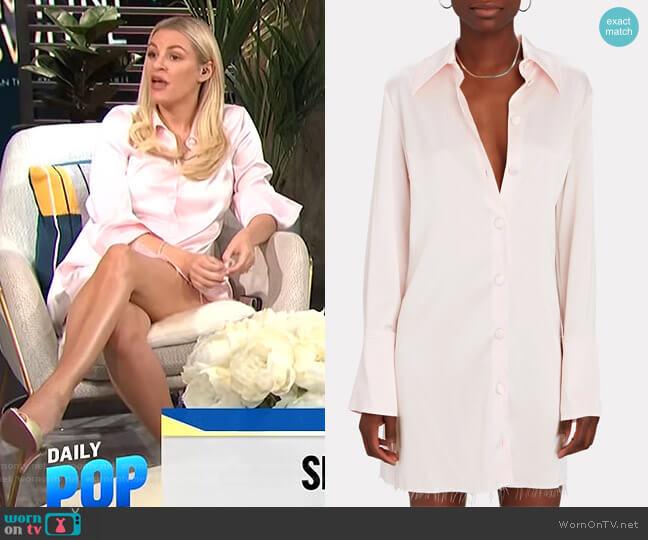 Shift Shirt Dress by Nanushka worn by Morgan Stewart  on E! News