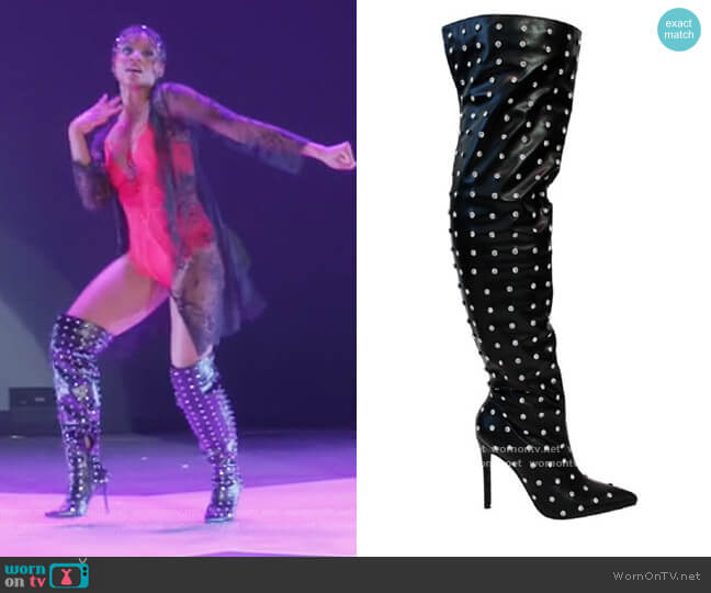 Over the Knee Thigh High Pointed Boots by Liliana worn by Simone Hicks (Geffri Maya) on All American