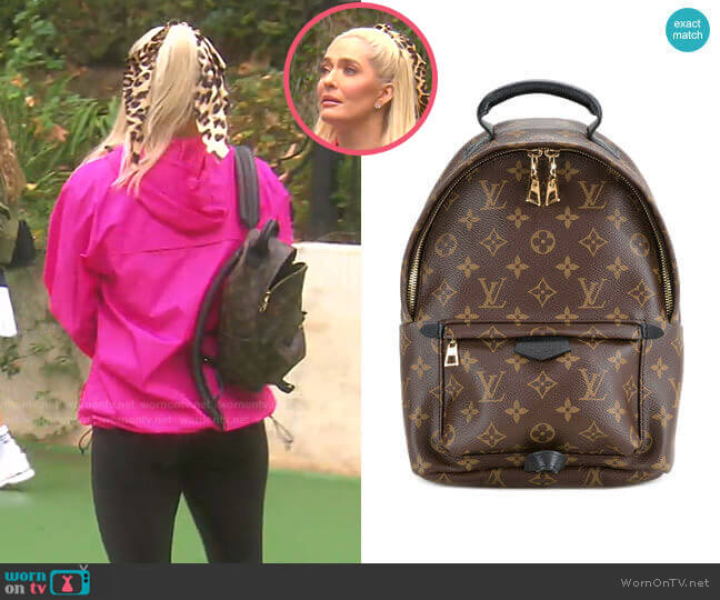 Palm Springs MM Backpack by Louis Vuitton worn by Erika Jayne  on The Real Housewives of Beverly Hills