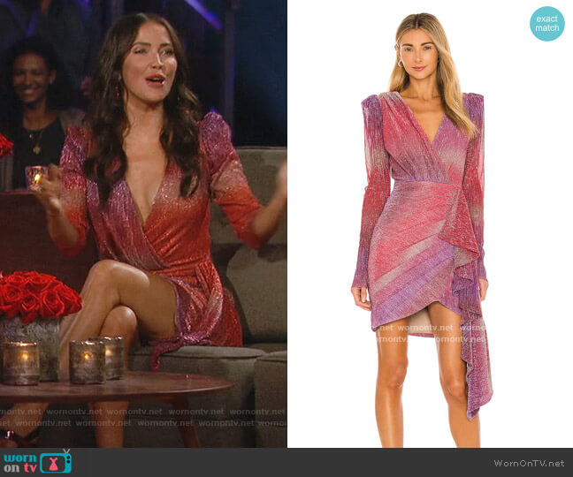 Ombre Lurex Mini Dress by PatBO worn by Kaitlyn Bristowe  on The Bachelorette