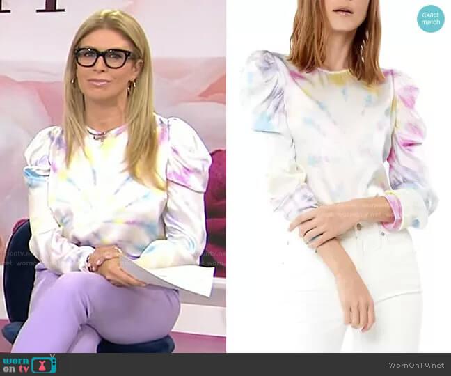 Penelope Tie-Dye Puff-Sleeve Blouse by Generation Love worn by Jill Martin  on Today
