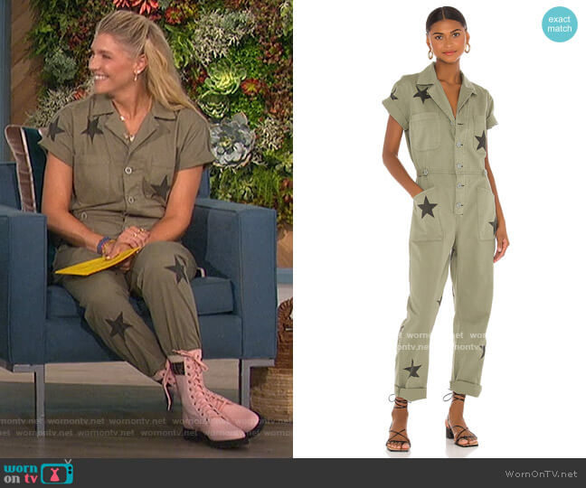 Grover Jumpsuit by Pistola worn by Amanda Kloots  on The Talk