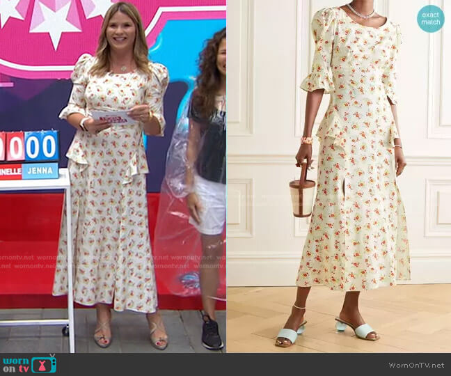 Quinn Dress by Rixo worn by Jenna Bush Hager  on Today