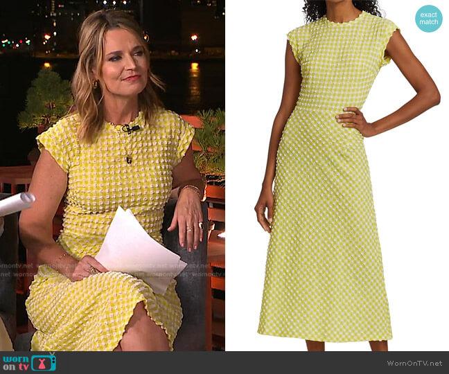 Adri Midi Dress by Rachel Comey worn by Savannah Guthrie  on Today