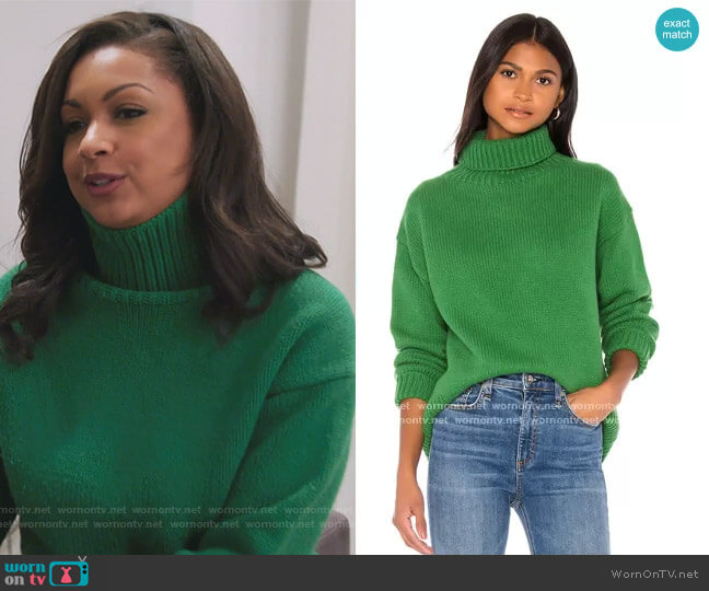 Lunet Turtleneck by Rag and Bone worn by Eboni K. Williams (Ebony K. Williams) on The Real Housewives of New York City