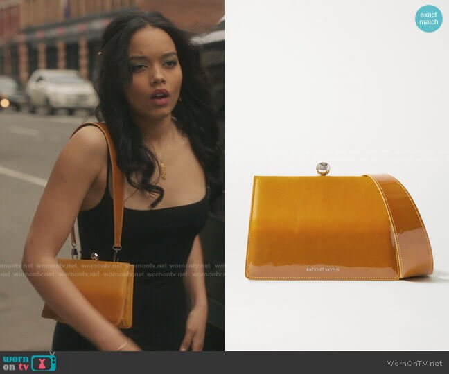 Mini Twin Ombré Coated-Suede Shoulder Bag by Ratio et Motus worn by Zoya Lott (Whitney Peak) on Gossip Girl