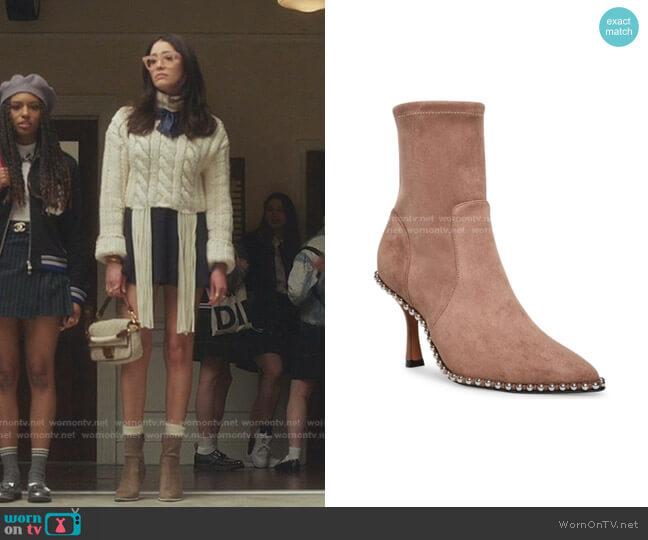 Jemmah Ankle Boot by STEVEN by Steve Madden worn by Luna La (Zión Moreno) on Gossip Girl