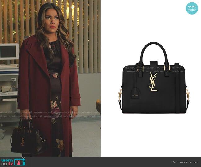 Calfskin Cabas Bag by Saint Laurent worn by Cristal Jennings (Daniella Alonso) on Dynasty