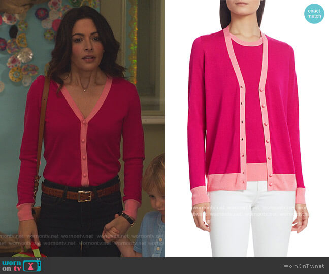 COLLECTION Silk & Cashmere Bi-Color Cardigan by Saks Fifth Avenue worn by Billie Connelly (Sara Shari) on Sex/Life