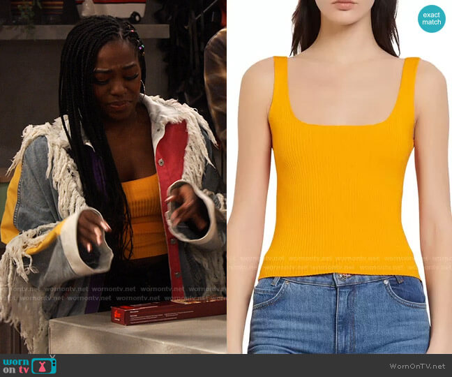 Sandro Alya Top worn by Harper (Laci Mosley) on iCarly