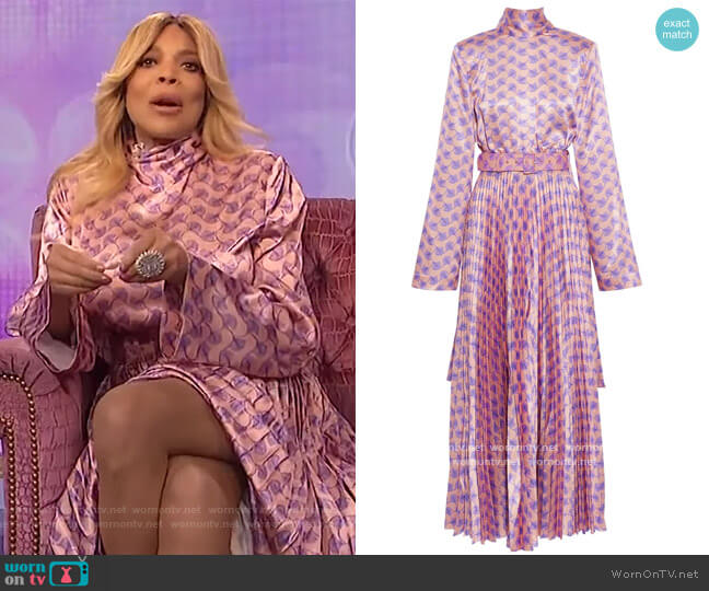 Elin Maxi Dress by Solace London worn by Wendy Williams  on The Wendy Williams Show