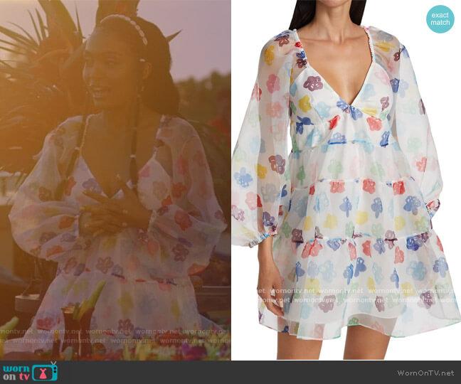 Mini Meadow Babydoll Dress Staud worn by Zoey Johnson (Yara Shahidi) on Grown-ish