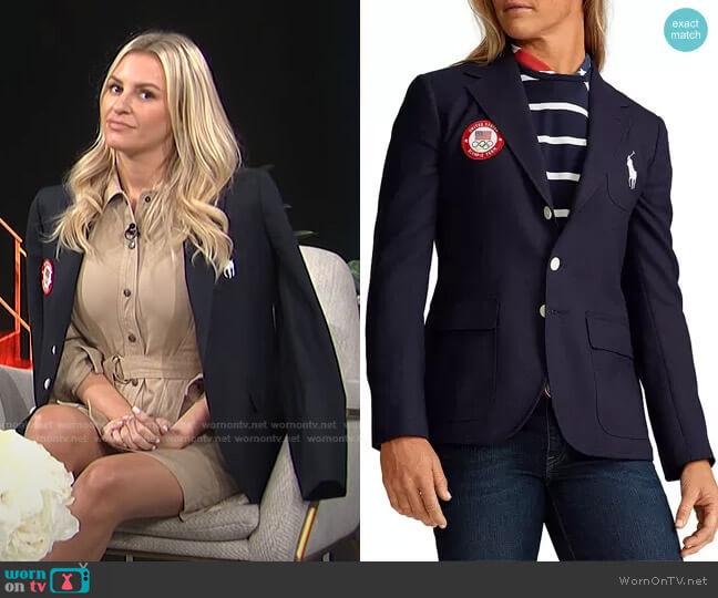 Team USA Opening Ceremony Slim Fit Blazer by Ralph Lauren x Team USA worn by Morgan Stewart  on E! News