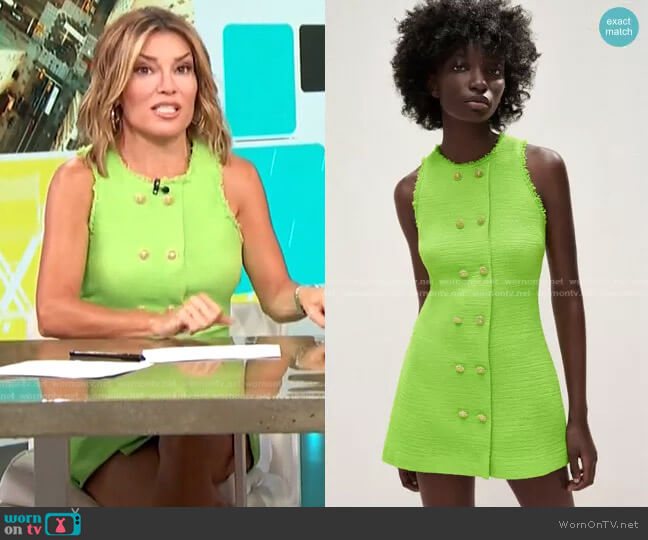 Textured Weave Dress by Buttons by Zara worn by Kit Hoover  on Access Hollywood