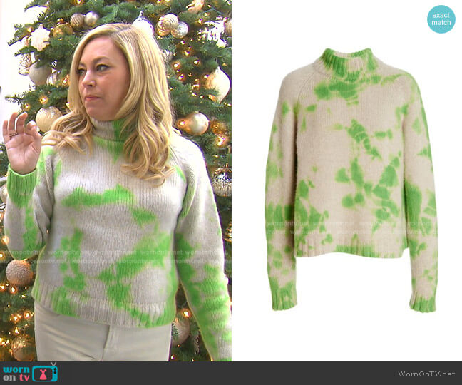 Yuma Sweater by The Elder Statesman worn by Sutton Stracke  on The Real Housewives of Beverly Hills