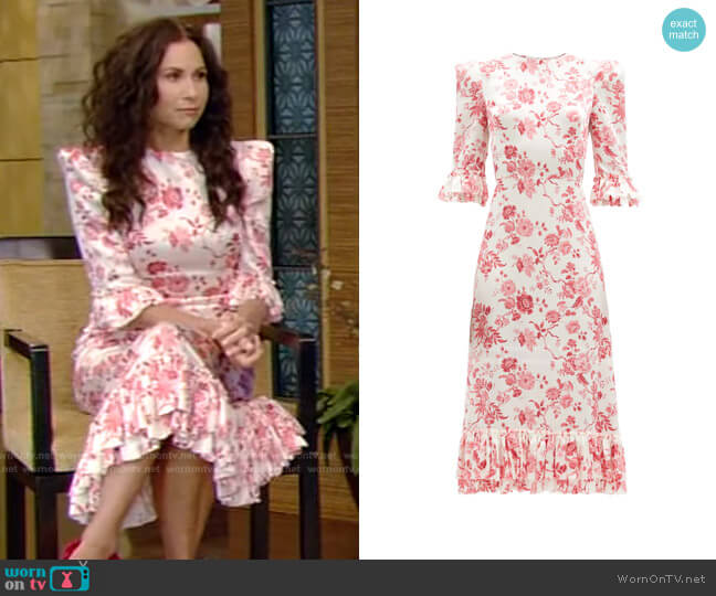 Falconetti Dress by The Vampire's Wife worn by Minnie Driver on Live with Kelly and Ryan