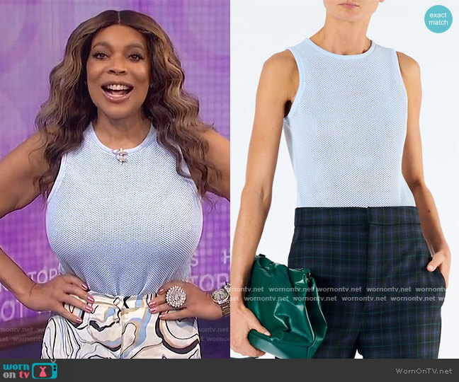 Tech Poly Mesh Bodysuit by Tibi worn by Wendy Williams  on The Wendy Williams Show