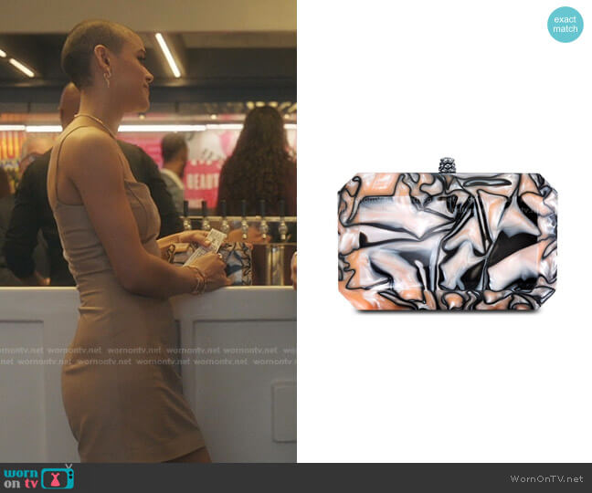 Lily Marbled Clutch Bag by Tyler Ellis worn by Julien Calloway (Jordan Alexander) on Gossip Girl