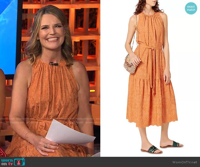 Roema Embroidered Midi Dress by Vanessa Bruno worn by Savannah Guthrie  on Today