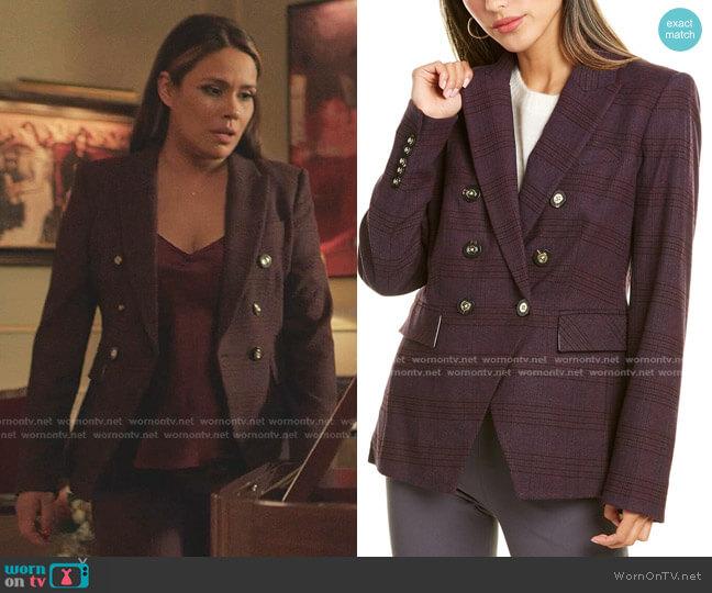 Miller Dickey Jacket by Veronica Beard worn by Cristal Jennings (Daniella Alonso) on Dynasty