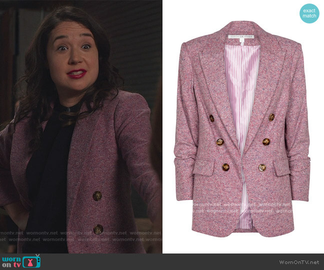 Beacon Dickey cotton and wool-blend blazer by Veronica Beard worn by Marissa Gold (Sarah Steele) on The Good Fight