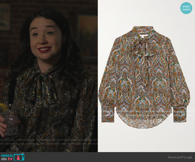 Zaylee Blouse by Veronica Beard worn by Marissa Gold (Sarah Steele) on The Good Fight