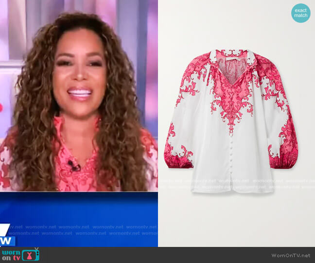 Nina Billow Blouse by Zimmermann worn by Sunny Hostin  on The View