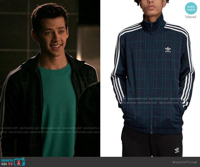 Adidas Originals Plaid Track Jacket worn by EJ (Matt Cornett) on High School Musical The Musical The Series
