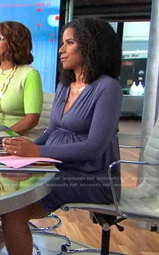 Adriana Diaz's v-neck long sleeve dress on CBS This Morning