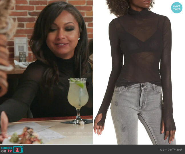 Zadie Sheer Turtleneck by AFRM worn by Eboni K. Williams (Ebony K. Williams) on The Real Housewives of New York City