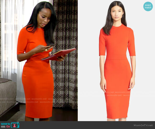 ALC Scoppa Dress worn by Imani Benedict (Leigh-Ann Rose) on The Young & the Restless