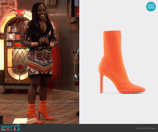 Aldo Delylah Boot worn by Harper (Laci Mosley) on iCarly